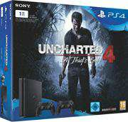 Playstation 4 Slim 1TB + Uncharted + 2 Controller Schwab
