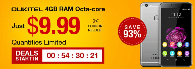 "5,5"" Android 6 Smartphone Oukitel 15s für 8,69€"
