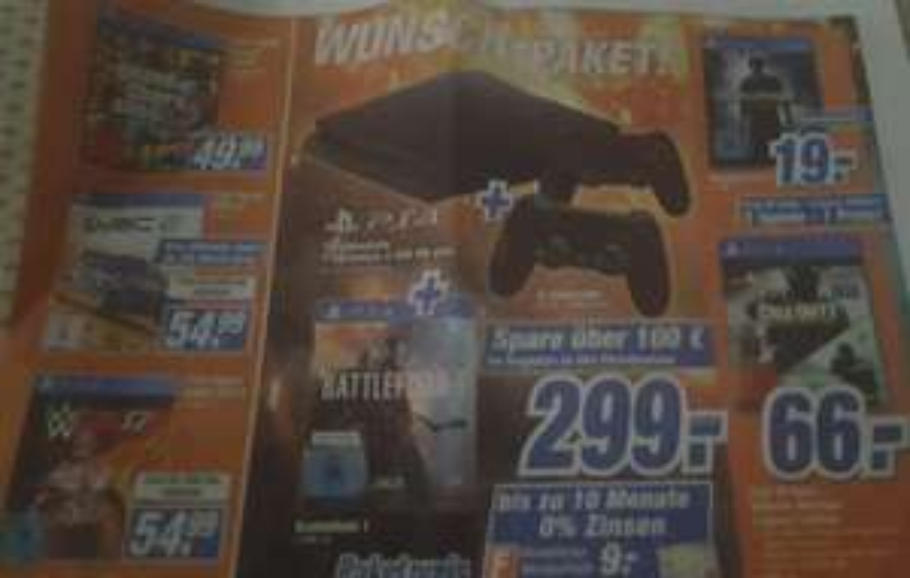 [Lokal Expert Medialand Marburg] Playstation 4 Slim 500GB + 2.Controller + Battlefield 1