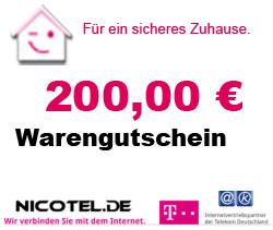 Telekom SmartHome eff. 7,45€/Monat + 200€ Warengutschein