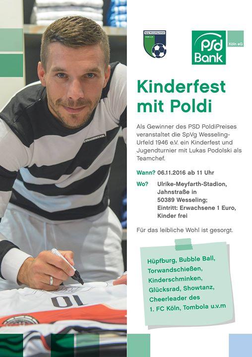 Kinderfest mit Poldi in Wesseling (NRW, Nähe Köln) (feier Eintritt für Kinder)