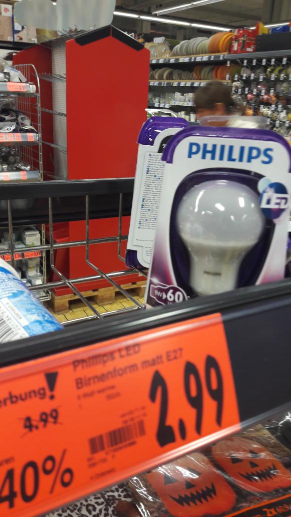 [Kaufland] Philips LED Birne 9Watt