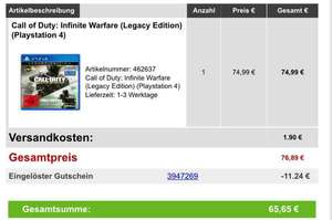 Call Of Duty Infinite Warfare Legacy Edition + 15-Fach Superpunkte
