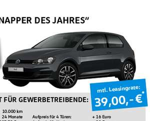 leasing gewerbe vw golf comfortline nur 39 eur mit. Black Bedroom Furniture Sets. Home Design Ideas