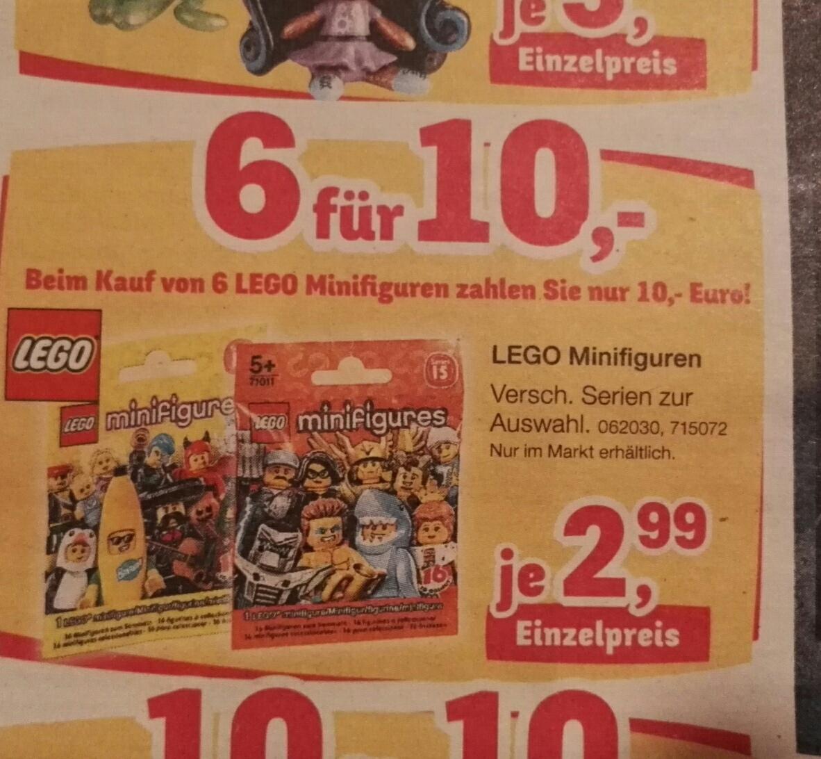 [Toys'r'us Filialen] 6 Lego Minifiguren für 10 Euro