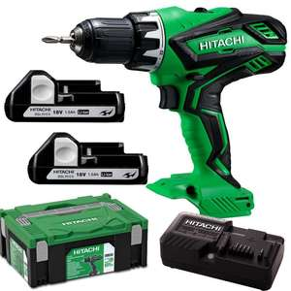 Hitachi Power Tools DS 18DJL Akkuschrauber, 18V, 1,5Ah [Werkzeug]