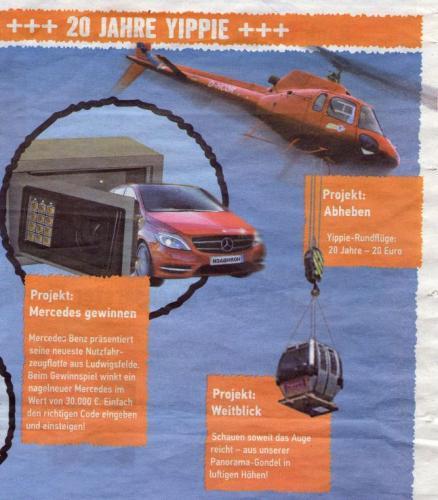 Hubschrauberrundflug für 20 € / Bungee-Jumping gratis - 20 Jahre Hornbach Berlin-Bohnsdorf Feier