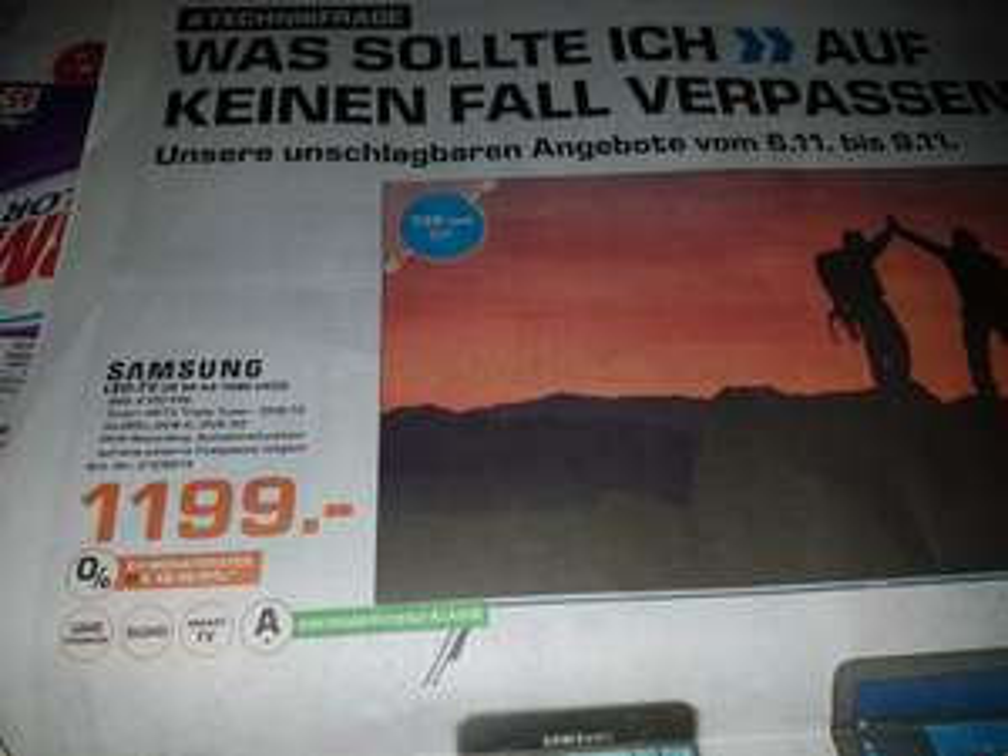 Samsung LED-TV UE 55 KS 7090 UXZG im Saturn Bielefeld für 1199€