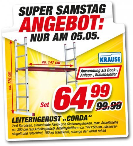 """Leiterngerüst """"Corda"""" für 64,99 Euro @Toom Baumarkt Bielefeld"""