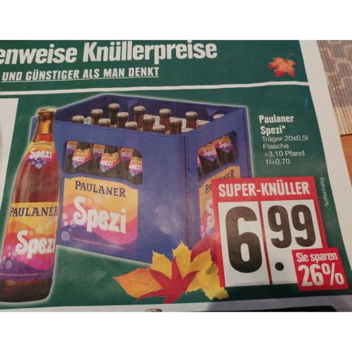 [Edeka Südbayern] Paulaner Spezi, Kasten für 6,99€