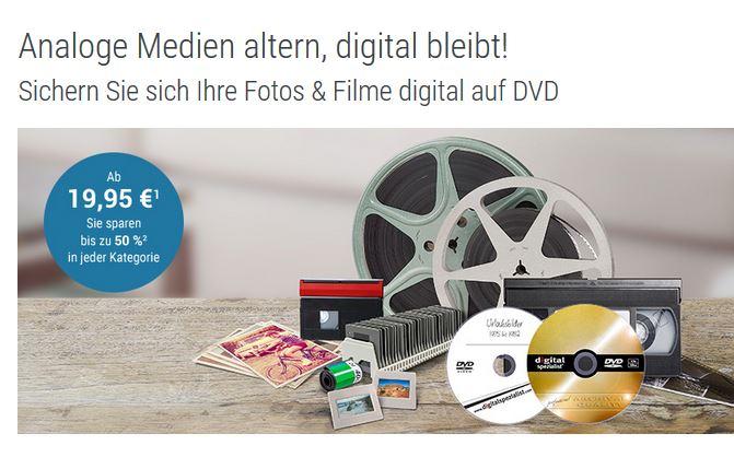 Fotos, VHS, Filme, Dias digitalisieren - 50% sparen - Digitalisierung