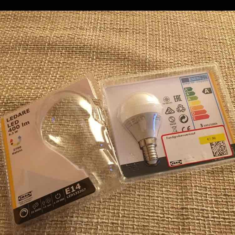 (Lokal) IKEA Augsburg E14 LED Lampen für 1,50€