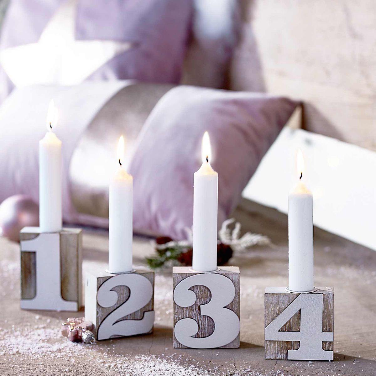 Advent, Advent, ein Lichtlein brennt ... günstige Adventskranz-Alternativen unter 15 €