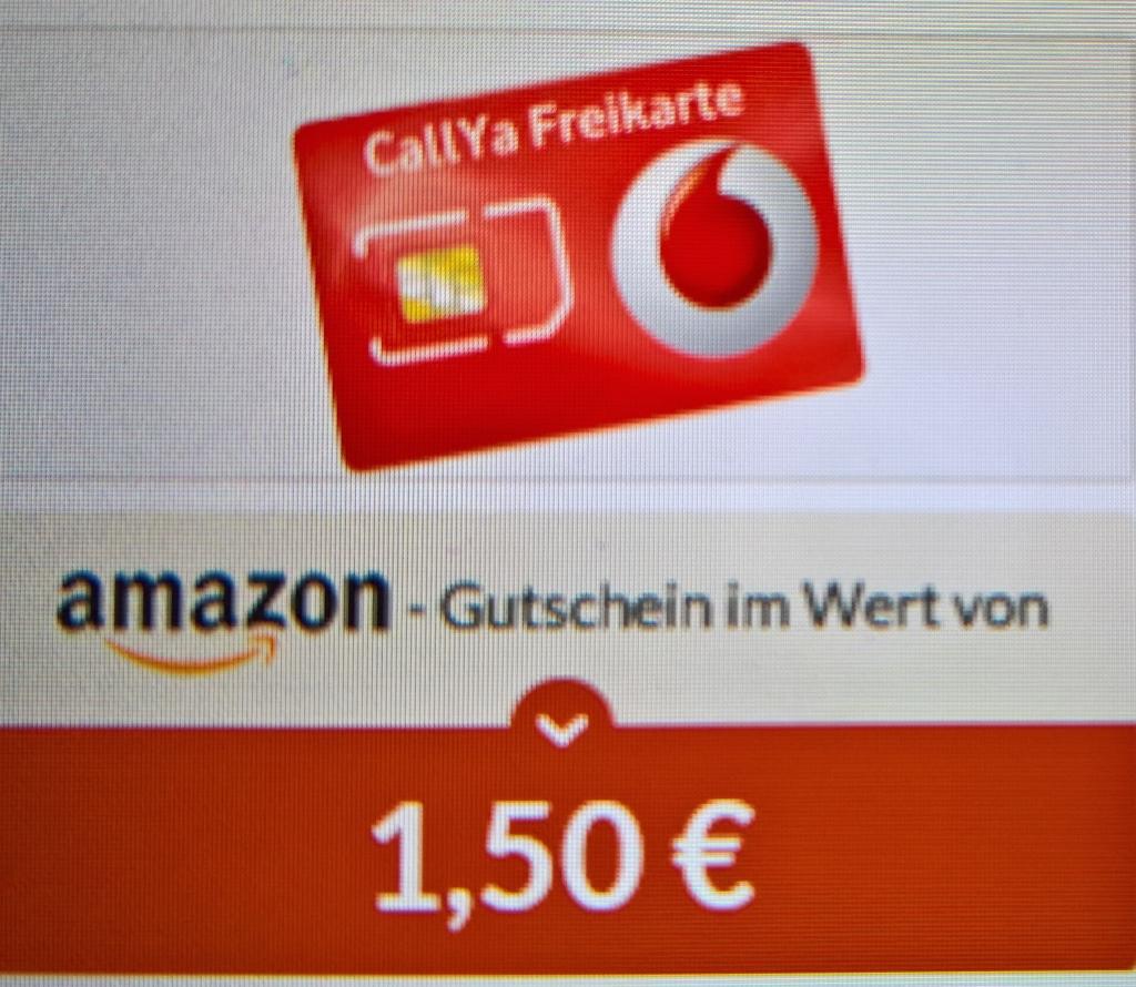 Gratis Callya Freikarte  mit 1,50€ Amazon Gutschein über Spartanien
