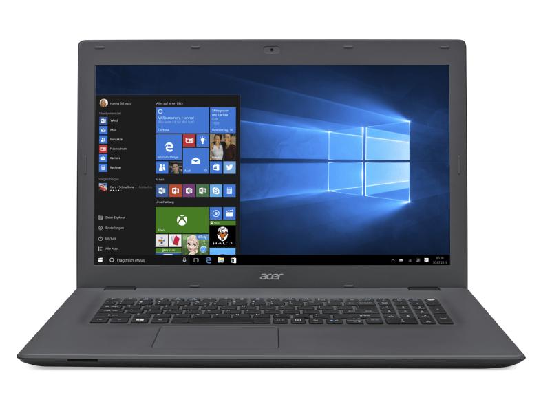 ACER Aspire E 17 (17,3 HD+, i3-6100U, 4GB RAM, 1TB HDD, Geforce 940M, Wlan ac + Gb LAN, Win 10) + Office 365 für 379€ [Saturn]