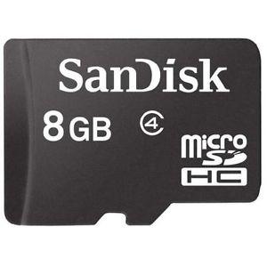 Sandisk microSDHC 8 GB Class 4 micro SD HC 8GB Card Speicherkarte