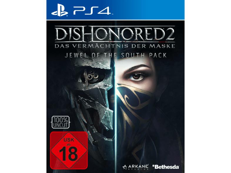 Media Markt Dishonored 2 mit T-shirt und Metal Schild PS4