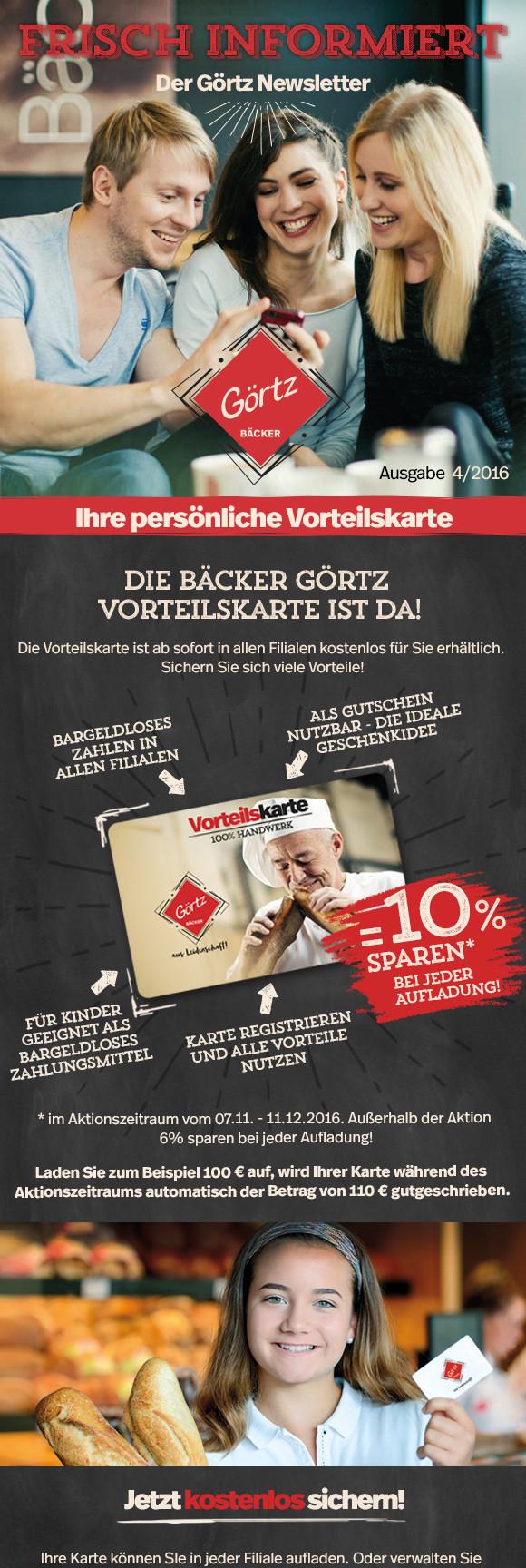 Ludwigshafen + Umgebung, Bäcker Görtz 10% sparen