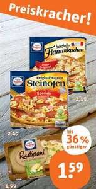 [Tegut bundesweit] Wagner Steinofen, Flammkuchen & Rustipani für jeweils 1,59€