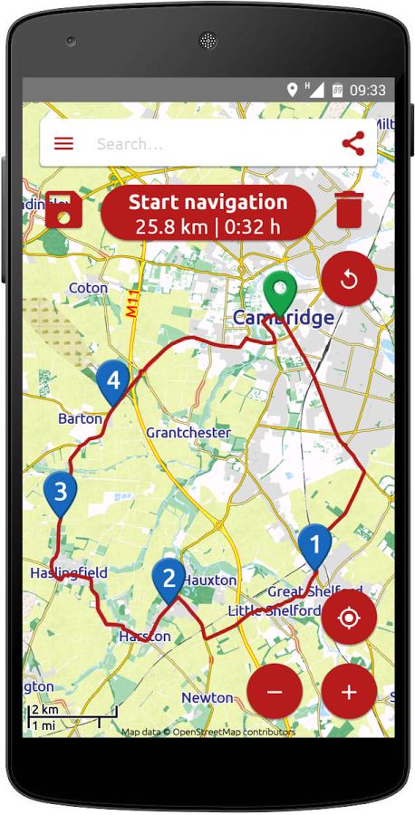 Calimoto Motorrad Navigation App für Android - Karten reduziert bis zu -45%