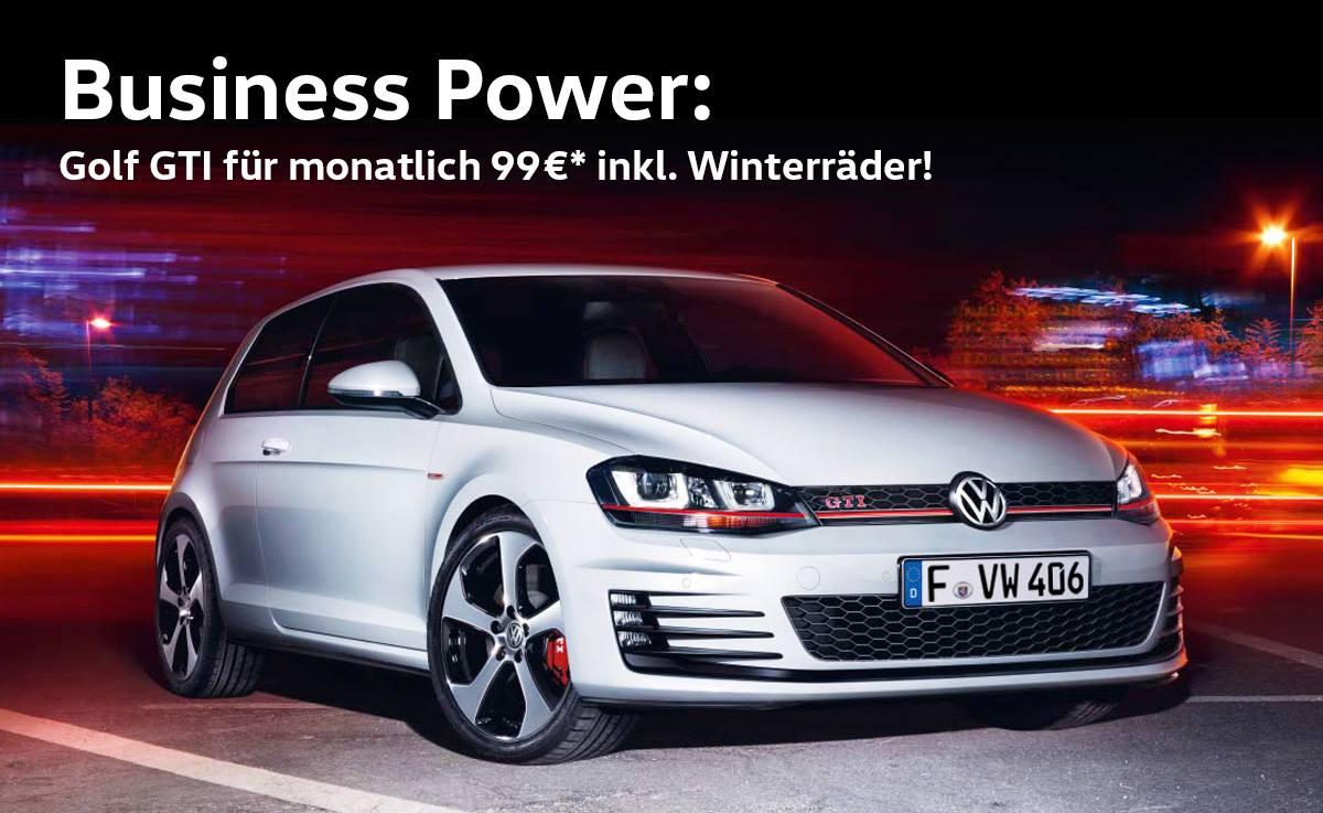 VW Golf GTI *99€* 24 Monate Leasing [Gewerbekunden] inkl. Winterreifen Leasingfaktor 0,53
