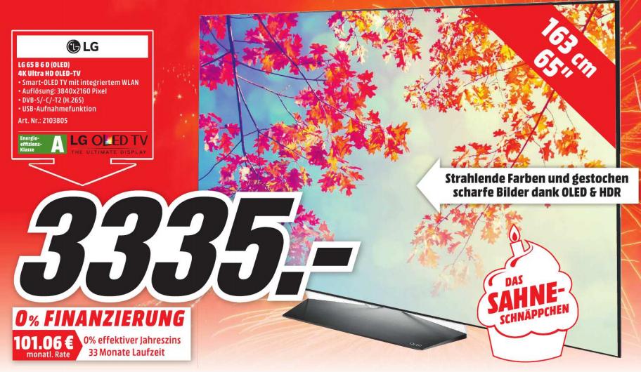 [Lokal Mediamarkt Köln Chorweiler] LG 65 OLED B6D