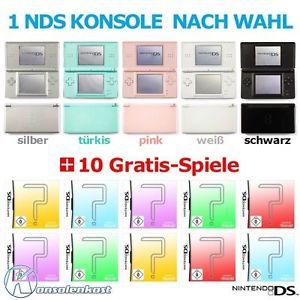 Nintendo DS Lite gebraucht plus 10 Spiele