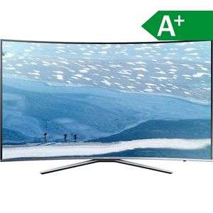 Samsung UE65KU6509UXZG, EEK A+, Curved-TV, 4K, 65 Zoll, silber