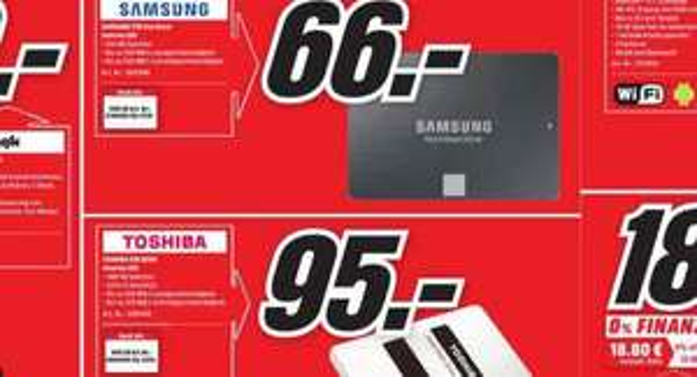 [Media Markt Freiburg] SSD Toshiba Q300 480GB für 95€ statt 115€ und Samsung 750 Evo 250GB für 66€ statt 73€