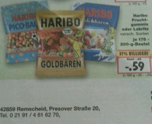 Kaufland Haribo verschiedene Sorten 0,59