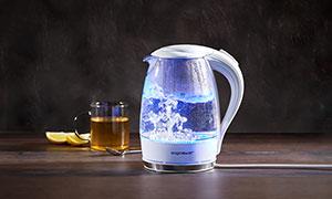 Glas-Wasserkocher mit LED Beleuchtung bei druckerzubehoer.de