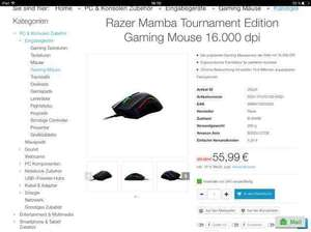 [bit-electronix.eu] Razer mamba tournament Edition plus Versand b ware
