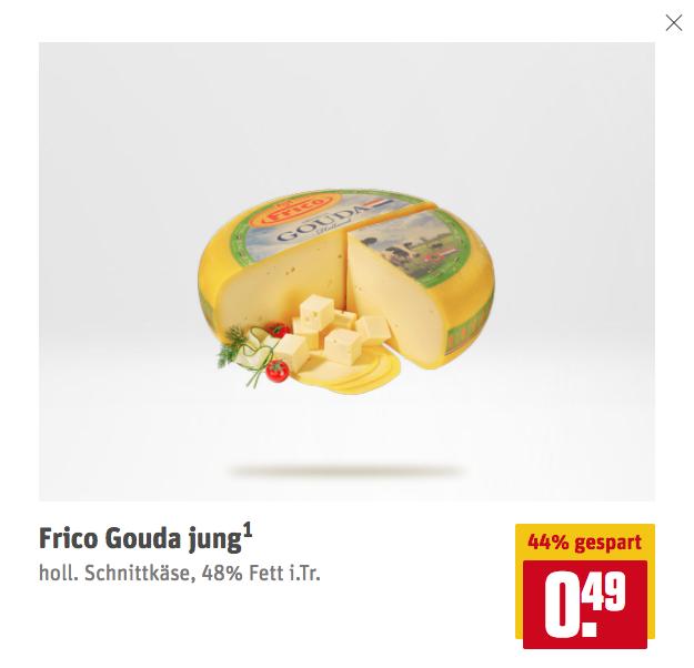 Frico Couda Jung bei Rewe: nur 0.49 euro (44% gespart)
