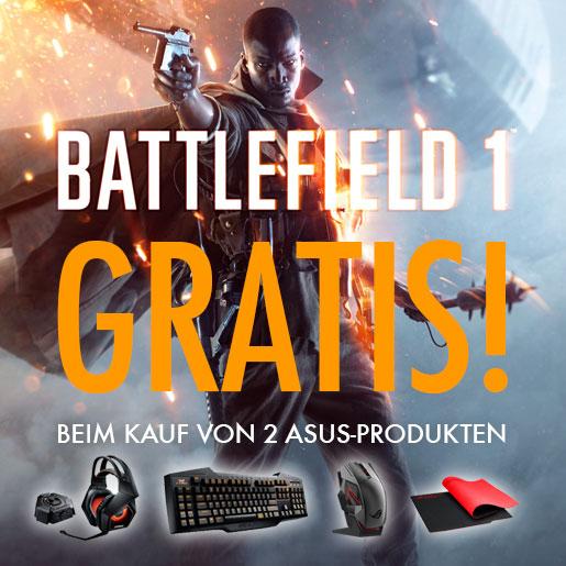 Zwei Asus Gaming-Produkte kaufen + Battlefield 1 (Key) gratis dazu [Amazon]