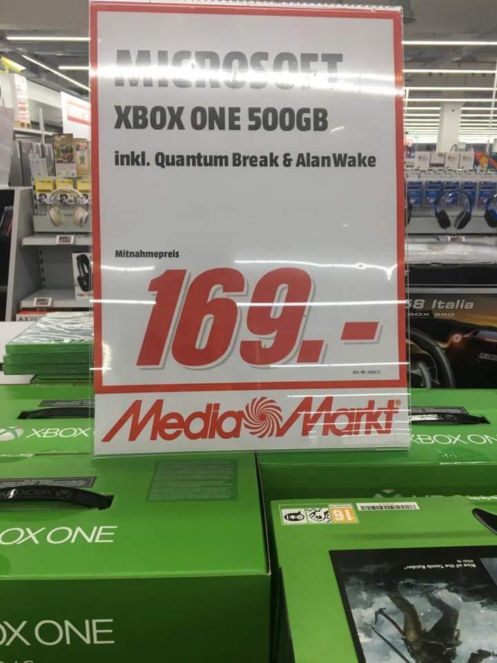 [Lokal MM Ingolstadt] Xbox One 500GB + Quantum Break & Alan Wake