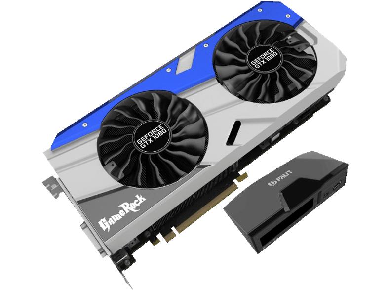 Palit GeForce GTX 1080 GameRock + G-Panel + Gears of War 4 für 620,10€ [Masterpass] [Saturn]