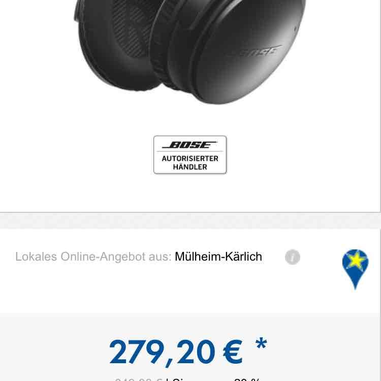 BOSE QuietComfort 35 Bluetooth-Kopfhörer schwarz Euronics Mülheim- KÄRLICH (lokal)