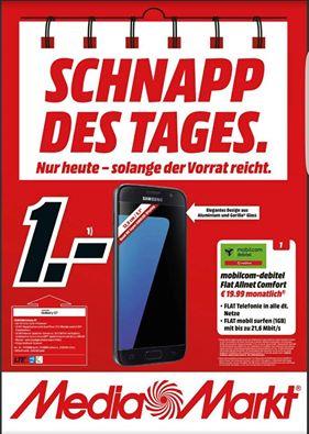 Samsung Galaxy S7 für effektiv 17,01 euro mit Flat Allnet Comfort Aktion  + 1GB Vodafone  Schnapp des Tages, 19,99 im Monat.