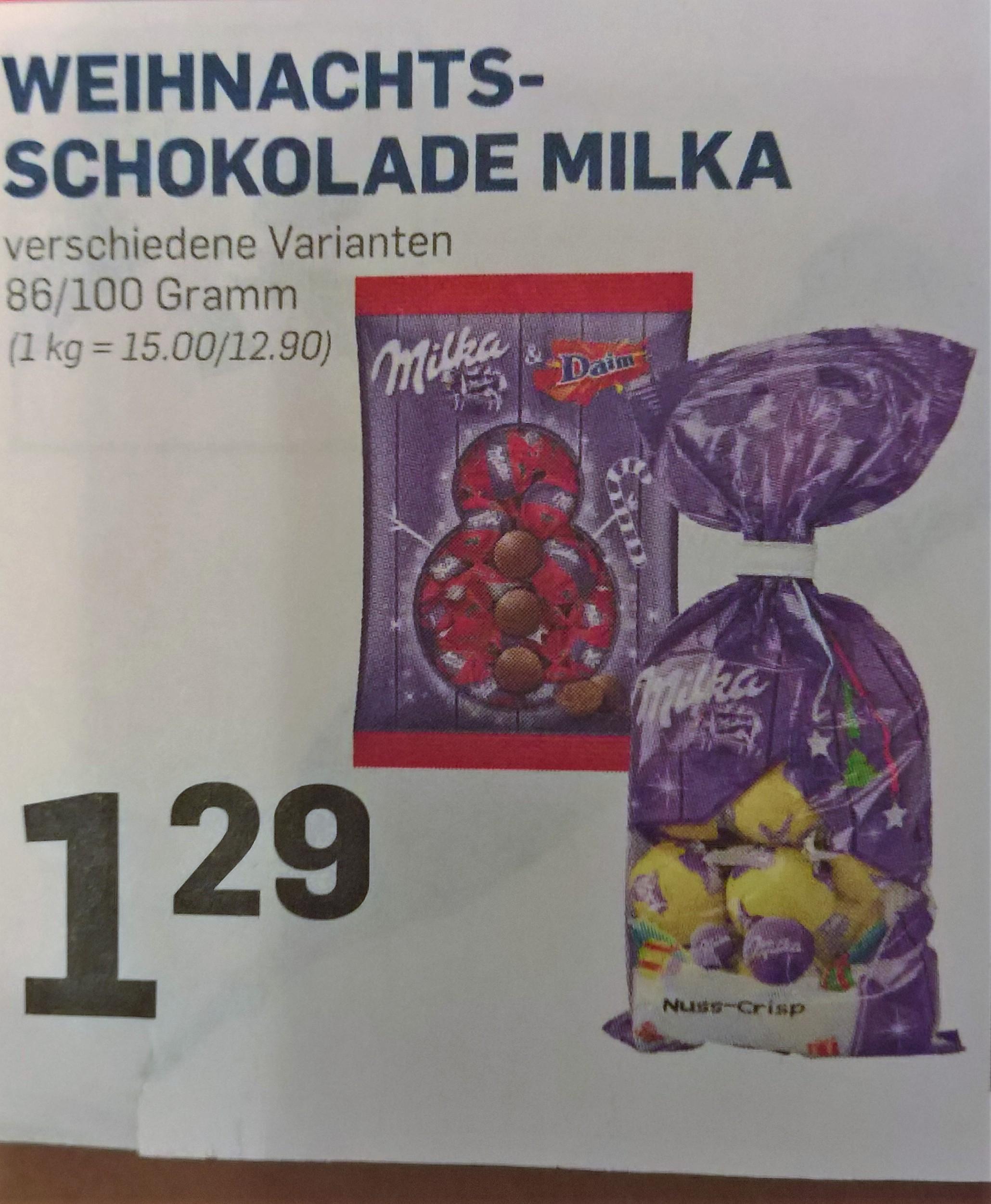 [lokal ACTION Märkte] Milka Nuss Crisp Weihnachsschokolade