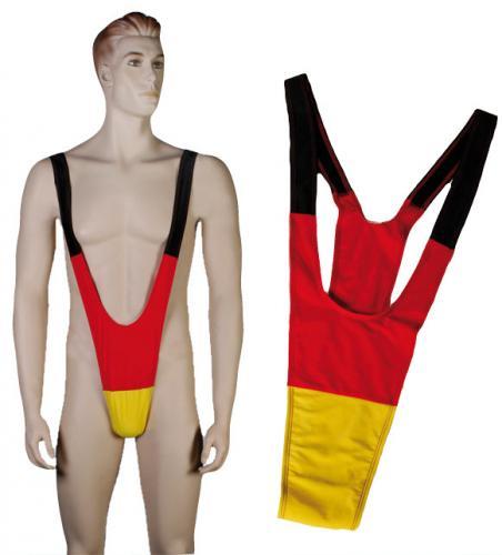 Perfektes Outfit zur EM - Deutschland Mankini / Borat Anzug