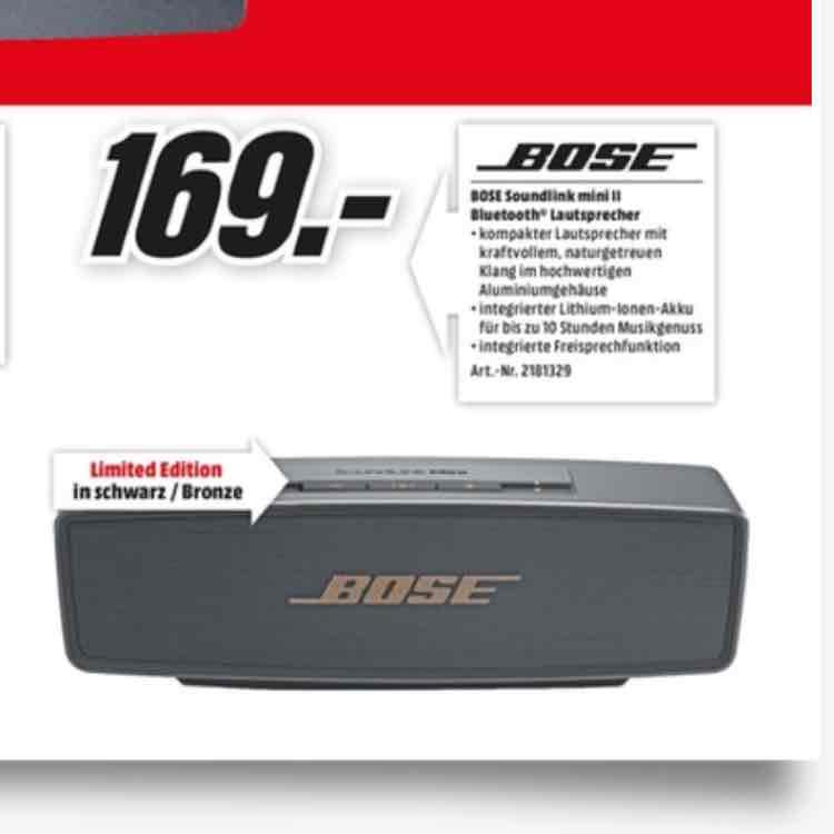 [Lokal Media Markt crailsheim] Bose Soundlink mini 2 limited Edition