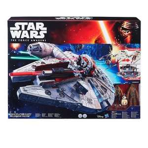 Nur für Prime Mitglieder: Hasbro Star Wars B3678EU5 - E7 Battle-Action Millennium Falke