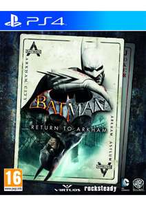 Batman: Return to Arkham (Arkham Asylum + Arkham City) (PS4] für 24,66€ [Simplygames]
