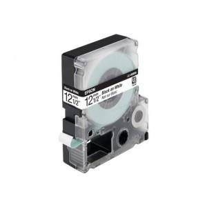 Epson LC-4WBN9 Schriftband für Etikettendrucker 12mm Schwarz auf Weiß