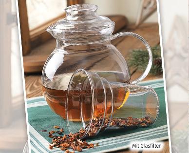 Teekanne aus Glas (1,5L) mit Glasfilter @Aldi Süd (ab 17.11.16)