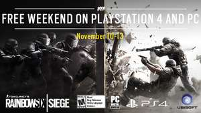 [PS4 + PC] Free Weekend: Rainbow Six Siege kostenlos spielen bis 13./14. November