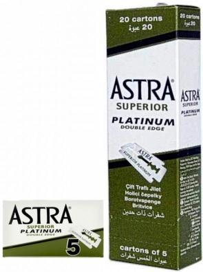 Oldschool: Nassrasur mit Shavette (1,93 Euro), Astra Superior Platinum Rasierklingen 1000 Stück für 63,90 Euro