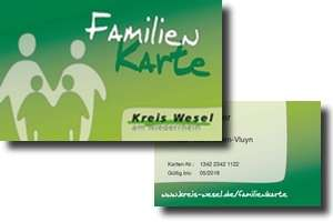 [Kreis Wesel] kostenlose Familienkarte mit 5 € Gutschein und weiteren Vergünstigungen