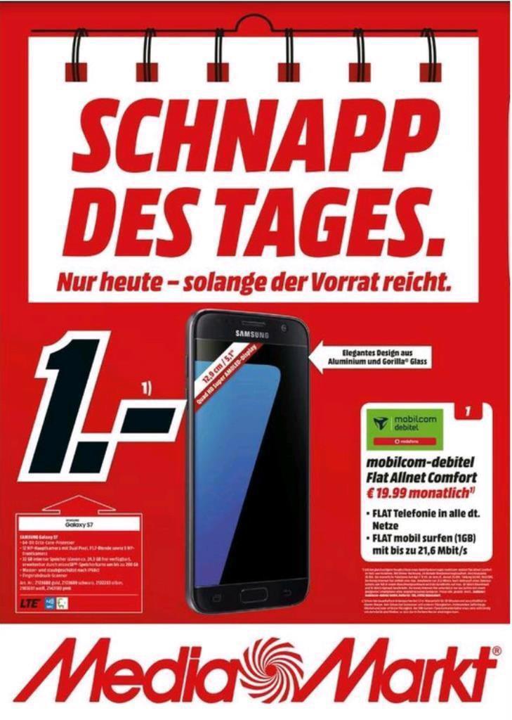 Samsung S7 19,99€ monatlich 1€ Anzahlung Media Markt Alexa