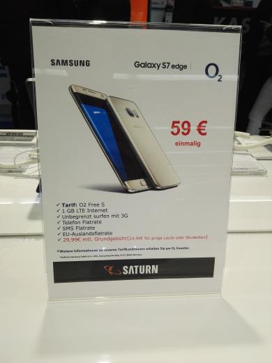 [Berlin Saturn] Samsung Galaxy S7 Edge O2 Free S J.L für 27,45€